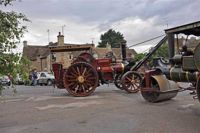 Traction engines visit South Cerney during the Steam Extravaganza which took plage in August 2013
